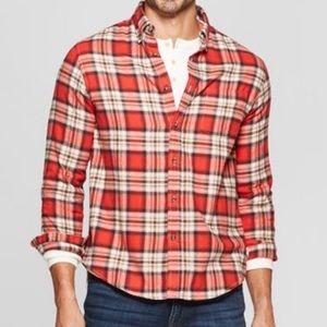 Goodfellow & Co Plaid Button-Down Flannel Shirt